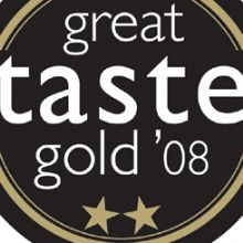 GOLD WINNER AT THE GREAT TASTE AWARDS 2008 - 15.06.2008